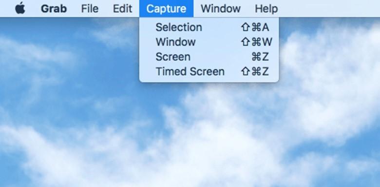Take a Screenshot with Grab