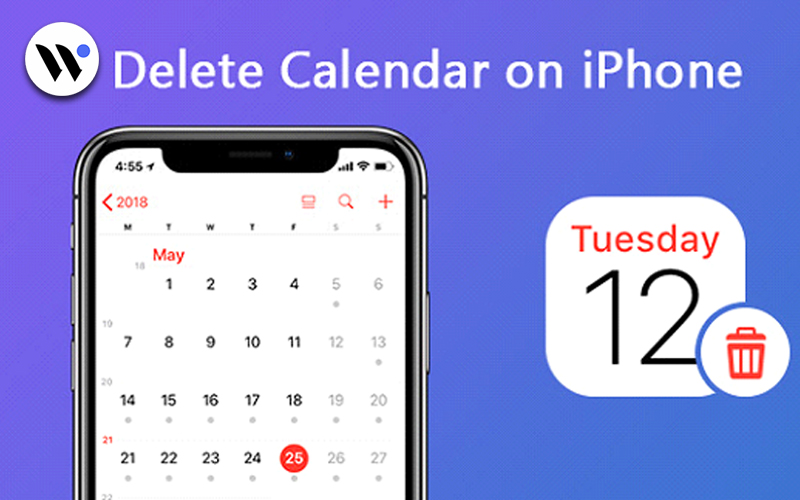 how to delete calendar on iPhone