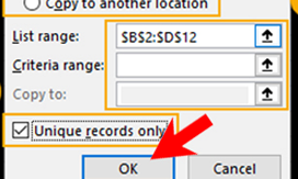How to Remove Duplicates Value with Advanced Filters