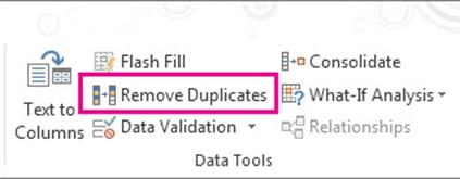 Remove Duplicates Value using Remove Duplicated Command