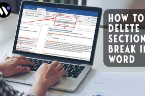 How To Delete Section Break In Word | Both Mac and Windows - Waredot