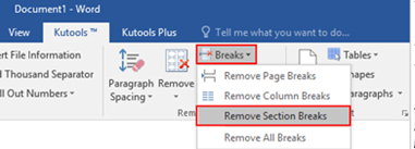 How to Remove All Section Breaks in Word