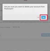 click Delete Account