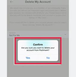 How to Delete Poshmark Account using App