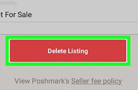 Delete Listing